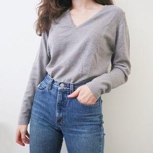 Johnstons of Elgin Wool V Neck Sweater